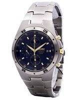 Seiko Titanium Two-tone Chronograph SND449 SND449P1 SND449P Men's Watch