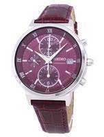 Seiko Chronograph Quartz SNDV37 SNDV37P1 SNDV37P Women's Watch