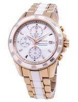 Relógio Seiko Sportura Cronógrafo Quartz SNDW98 SNDW98P1 SNDW98P da mulher