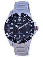Relógio masculino Seiko Prospex Padi mostrador preto em aço inoxidável solar SNE551 SNE551P1 SNE551P 200M