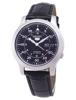 Seiko 5 Military SNK809K2-SS1 Automatic Black Leather Strap Men's Watch