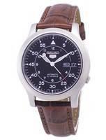 Seiko 5 militar SNK809K2-SS2 relógio de homens de pulseira de couro marrom automático