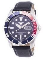 Relógio Seiko 5 Sports automático relação couro preto SNZF15K1-LS10 masculino
