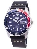 Seiko 5 Sports SNZF15K1-LS14 Automatic Black Leather Strap Men's Watch