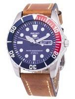 Seiko 5 Esportes SNZF15K1-LS17 Automático Brown Leather Strap Men Watch