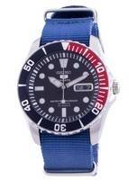 Seiko 5 Sports Blue Dial Automatic SNZF15K1-var-NATO8 100M Men's Watch