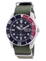 Seiko 5 Sports Blue Dial Automatic SNZF15K1-var-NATO9 100M Men's Watch