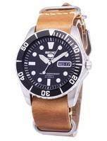 Seiko 5 Sports SNZF17J1-LS18 Automatic Japan Made Brown Leather Strap Men's Watch