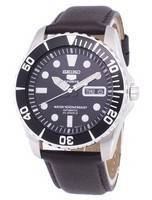 Seiko 5 Sports Automatic Ratio Dark Brown Leather SNZF17K1-LS11 Men's Watch