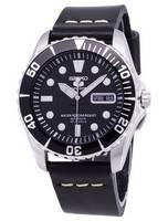 Seiko 5 Sports SNZF17K1-LS14 Automatic Black Leather Strap Men's Watch