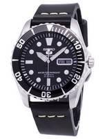 Seiko 5 Sports SNZF17K1-LS14 Automatic Black Leather Strap Men's Watch