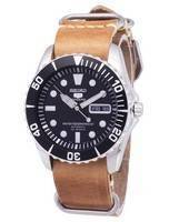 Seiko 5 Sports SNZF17K1-LS18 Automatic Brown Leather Strap Men's Watch