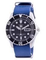 Seiko 5 Sports Black Dial Automatic SNZF17K1-var-NATO8 100M Men's Watch