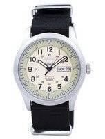 Seiko 5 Esportes Militar Automático Japão Feito NATO Strap SNZG07J1-NATO4 Relógio dos homens