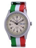 Seiko 5 Sports Military Automatic Japan Made SNZG07J1-var-NATO23 100M Men's Watch