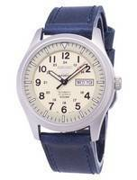 Seiko 5 Sports SNZG07K1-LS13 Automatic Dark Blue Leather Strap Men's Watch