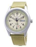 Seiko 5 Sports Automatic SNZG07 SNZG07K1 SNZG07K Military Nylon Strap Men's Watch