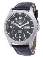 Seiko 5 Sports Automatic Japan Made Ratio Black Leather SNZG09J1-LS6 Men's Watch