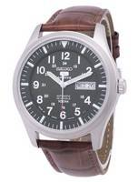 Seiko 5 Sports Automatic Japan Made Ratio Brown Leather SNZG09J1-LS7 Men's Watch