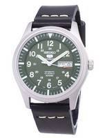 Seiko 5 Sports SNZG09K1-LS14 Automatic Black Leather Strap Men's Watch