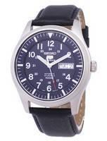Seiko 5 Relação Automática de Esportes Relógios de Couro Preto SNZG11K1-LS10