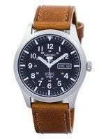 Seiko 5 Sports Automatic Japan Made Ratio Brown Leather SNZG15J1-LS9 Men's Watch