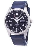 Montre Seiko 5 Sports SNZG15K1-LS13 pour homme avec bracelet en cuir bleu foncé