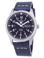 Seiko 5 Sports SNZG15K1-LS15 Automatic Dark Blue Leather Strap Men's Watch