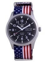 Seiko 5 Sports Automatic Polyester SNZG15K1-var-NATO27 100M Men's Watch