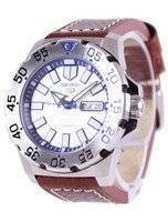 Seiko 5 Sports Automatic Ratio Brown Leather SRP481K1-LS1 Men's Watch