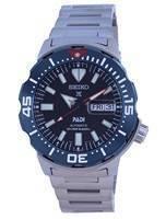 Relógio masculino Seiko Prospex Monster Padi Edição especial de mergulhador automático SRPE27 SRPE27K1 SRPE27K 200M