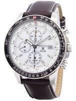 Seiko Pilot's Solar Alarm Chronograph Flightmaster SSC013 SSC013P1 SSC013P Men's Watch