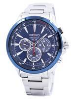 Seiko Solar Chronograph Tachymeter Scale SSC495 SSC495P1 SSC495P Men's Watch