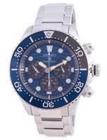 Salve o oceano do mergulhador Seiko Prospex SSC741 SSC741P1 SSC741P relógio masculino com cronógrafo solar edição especial 200M