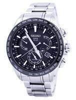 Seiko Astron GPS Solar Dual Time Japan Made SSE077 SSE077J1 SSE077J Men's Watch