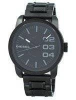 Refurbished Diesel Black Dial Black Textured Steel WR100M DZ1371 Men's Watch