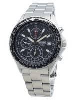 Refurbished Seiko Chronograph SND253 SND253P1 SND253P Flightmaster Pilot Quartz Men's Watch