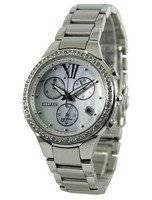 Refurbished Citizen Eco Drive Diamond Accents Chronograph FB1321-56A Women's Watch