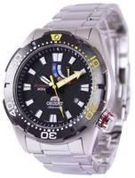 Relógio masculino reformado Orient M-Force 200M EL0A001B com reserva automática de energia