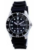Relógio 100M masculino reformado Seiko 5 Sports Black Dial automático SNZF17K1-var-RB1