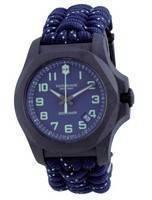 Victorinox I.N.O.X. Carbon Blue Textile Diver's Blue Dial Quartz 241860 200M Men's Watch