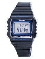 Relógio Unisex do alarme W-215H-8AVDF W215H-8AVDF de Digital do alarme do cronógrafo do iluminador de Casio