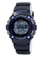 Casio Tough Iluminador Solar Maré Gráfico Lua Fase Digital W-S210H-1AV Men Watch