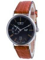Relógio masculino Zeppelin LZ120 Rome Black Dial Automatic 7104-2 71042