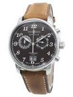 Zeppelin LZ127 Graf 7684-4 76844 Relógio de homem com cronógrafo de quartzo