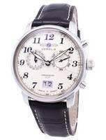 Zeppelin série LZ127 Graf Alemanha fez relógio 7684-5 76845 masculino