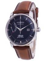 Zeppelin Atlantik Blue Dial Leather Strap Automatic 8462-3 84623 Men's Watch