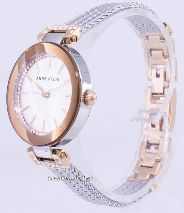 aa36f3943d9a Acentos de diamante de Anne Klein cuarzo 1907SVRT Watch de Women es