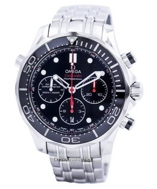 75a29e866b5 Relógio Omega Seamaster Professional Diver 300m Chronograph Co-Axial  212.30.44.50.01.001 masculino