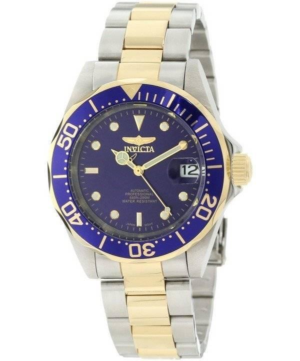 Invicta Pro Diver 200M αυτόματη δύο τόνος INV8928 8928 ανδρών ρολόι el 890e0485402